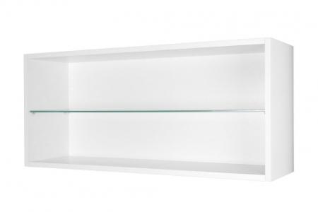 Regal weiß Glasboden