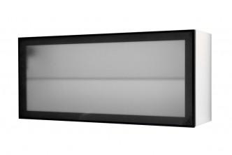 Hängeschrank Glasfront schwarz