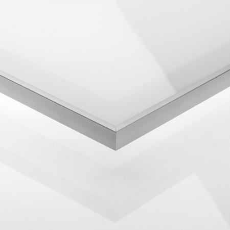 Muster Front Alu Glas weiß